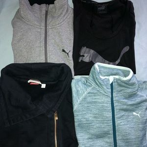 Puma Large Sweatshirt Lot zip up (3) & (1) T-Shirt